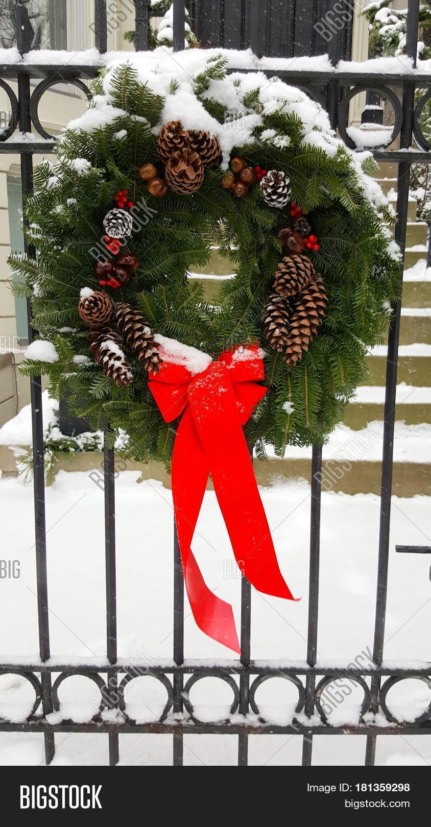 Christmas Wreath On Image Photo Free
