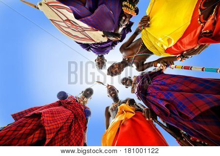 Mombasa. Kenya January 26 2012 African tribe Maasai