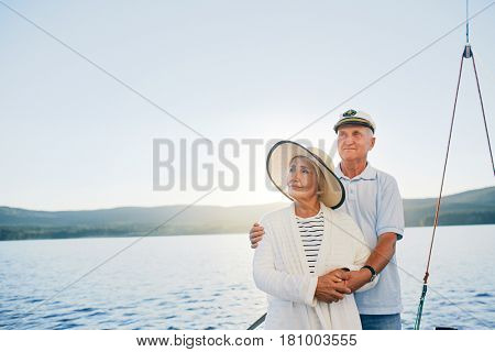 Amorous mature spouses having summer voyage