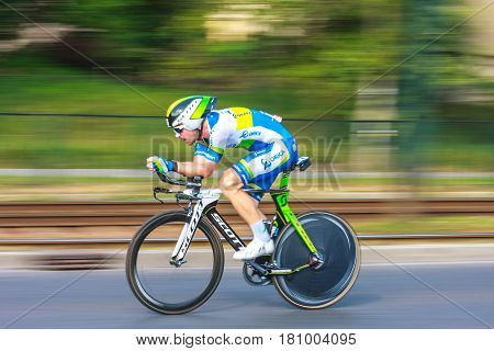 Krakow, Poland - August 3, 2013: Unidentified Participant Of 70Th Tour De Pologne Cycling 7Th Stage