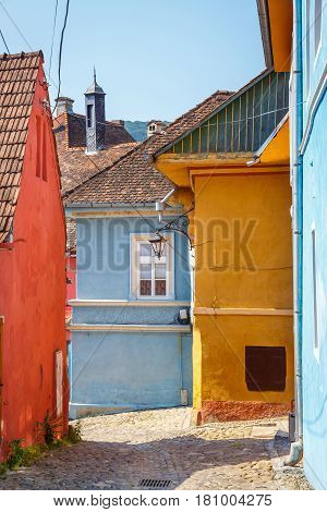 Sighisoara, Romania - July 08, 2015: Walking In Historic Town Sighisoara. City In Which Was Born Vla