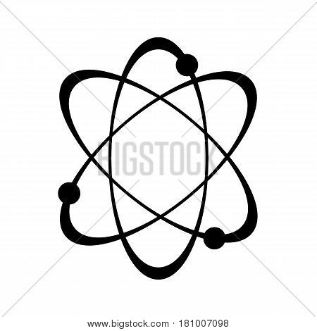 Atom Icon in trendy flat style isolated on white background. Atom symbol for your web site design, logo, app, UI.