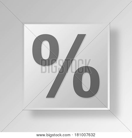 Gray Square interest rate Symbol icon Concept