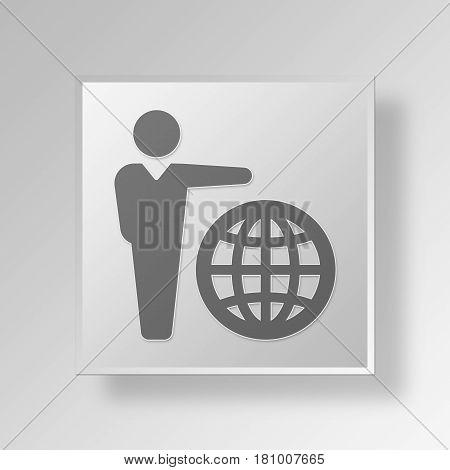 Gray Square International Acclaim Symbol icon Concept