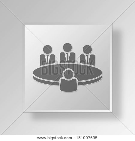 Gray Square interview meeting Symbol icon Concept