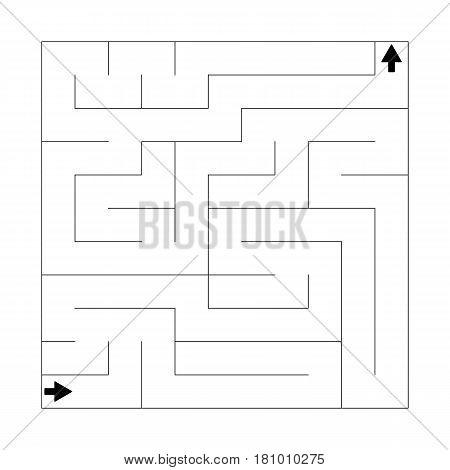 Complex puzzle maze labyrinth. Linear vector puzzle