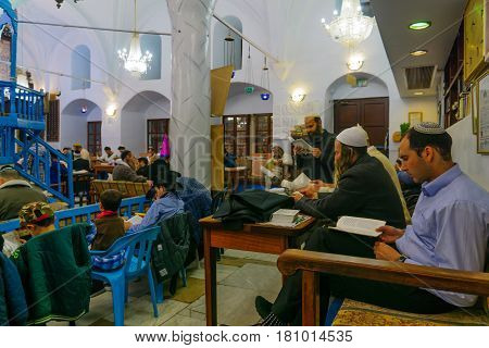 Purim In The Old Abuhav Synagogue, Safed (tzfat), Israel