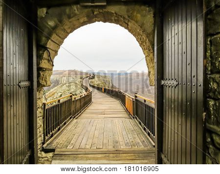 Gate of ancient fortress. Ovech Fortress, Provadia, Bulgaria