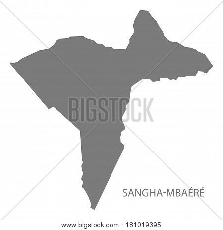 Sangha Mbaere prefecture map grey illustration silhouette