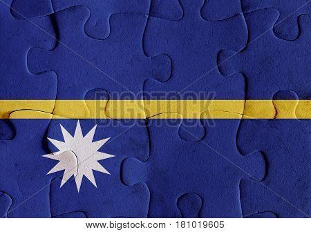 Republic Of Nauru Flag Puzzle