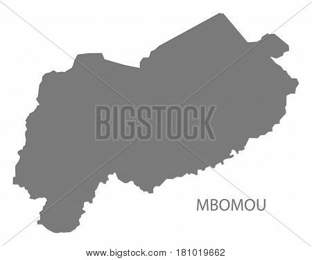 Mbomou prefecture region map grey illustration silhouette