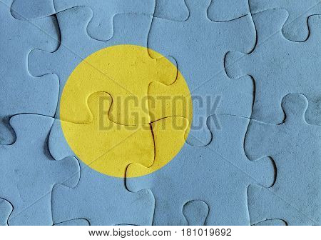 Republic Of Palau Flag Puzzle