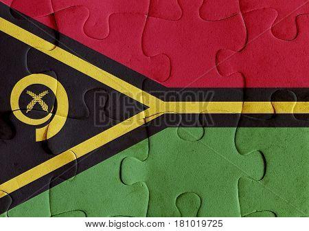 Vanuatu Flag Puzzle