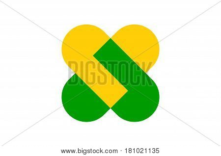 Flag of Champagne-Ardenne is a former administrative region of France. Vector illustration