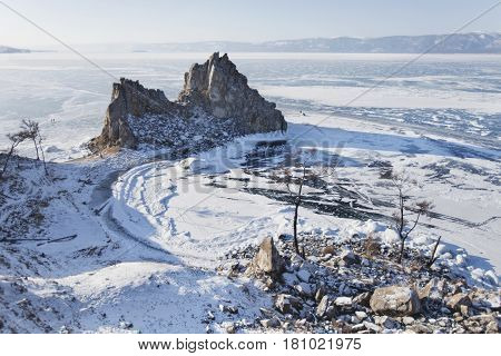 Shamanka Mount. Cape Burhan. Lake Baikal, Winter