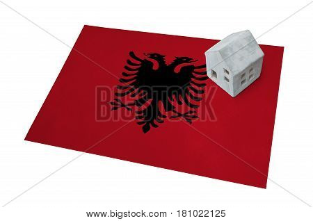 Small House On A Flag - Albania