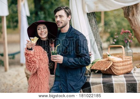 Young Happy Couple At Alfresco Picnic