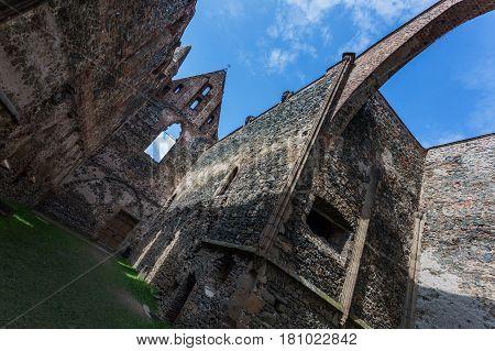 Rosa Coeli old castle in Dolni Kounice Czech Republic