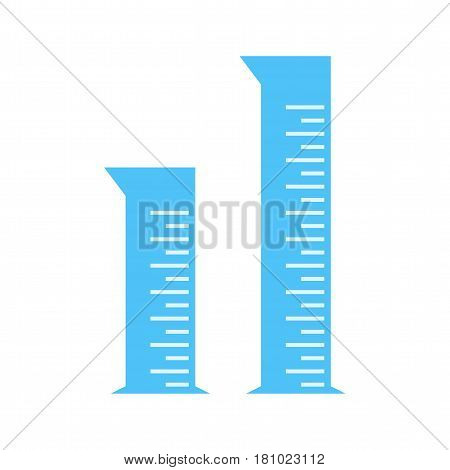 Chemistry, laboratory, graduated icon vector image. Can also be used for chemistry. Suitable for mobile apps, web apps and print media.