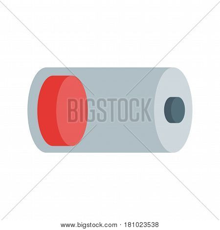 Battery, low, sign icon vector image. Can also be used for web interface. Suitable for use on web apps, mobile apps and print media.