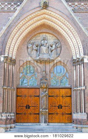 Vintage Wooden Church Door