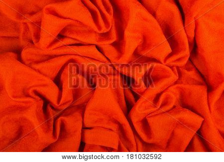A crumpled woolen cloth. Woolen Indian Shawl