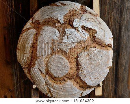 A tasty loaf of blackbread freshly baked