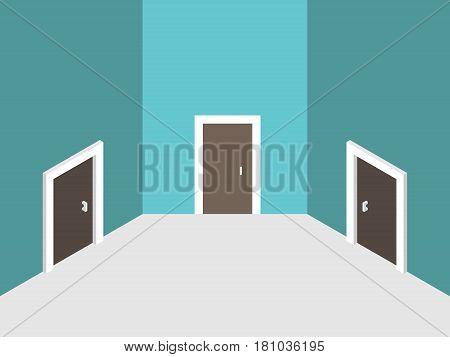 Three Abstract Closed Doors