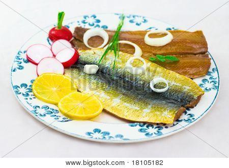Snack von salzigen Fische