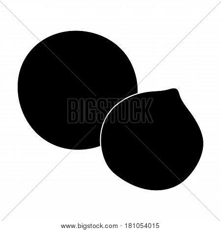Macadamia.Different kinds of nuts single icon in black style vector symbol stock web illustration.