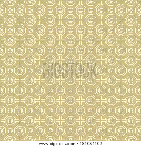 Geometric abstract vector octagonal background. Geometric abstract white ornament. Seamless modern pattern