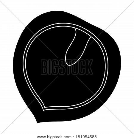 Manchurian walnut.Different kinds of nuts single icon in black style vector symbol stock web illustration.