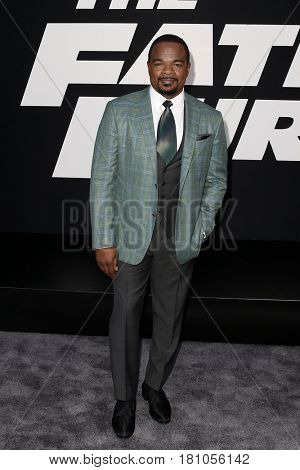 "NEW YORK-APR 8: Director F. Gary Gray attends the premiere of ""The Fate of the Furious"" at Radio City Music Hall on  April 8, 2017 in New York City."