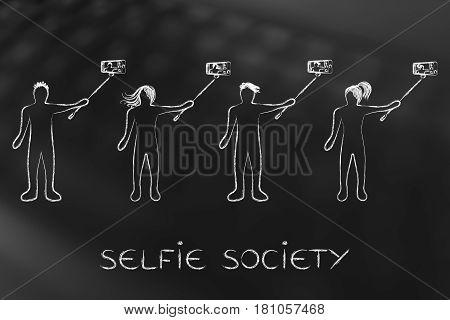Selfie Society People Taking Self-portraits