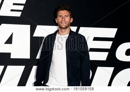 """NEW YORK-APR 8: Actor Scott Eastwood attends the premiere of """"The Fate of the Furious"""" at Radio City Music Hall on April 8, 2017 in New York City."""