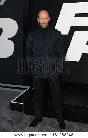 NEW YORK-APR 8: Actor Jason Statham attends the premiere of