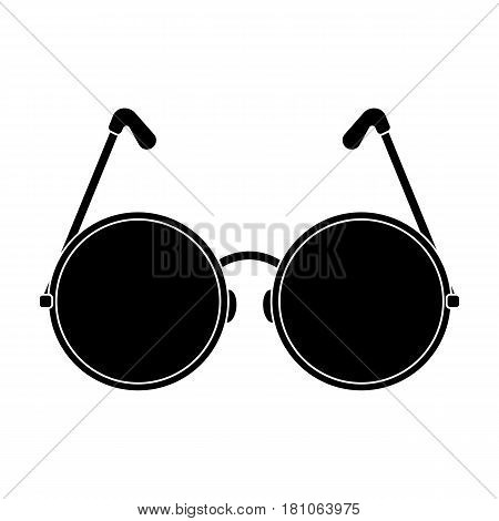 Round glasses in a pink frame.Hippy single icon in black style vector symbol stock illustration .