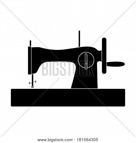 Machine for fast sewing.Sewing or tailoring tools kit single icon in black style vector symbol stock web illustration.