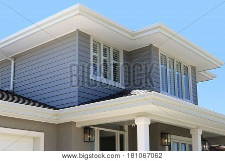Modern architecture exterior details in Australia investment concepts