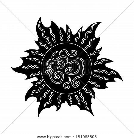 The sun is bright.Summer rest single icon in black style vector symbol stock web illustration.