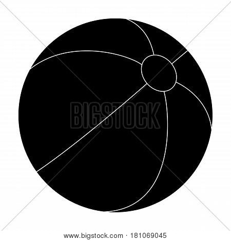 Inable multicolored ball.Summer rest single icon in black style vector symbol stock web illustration.