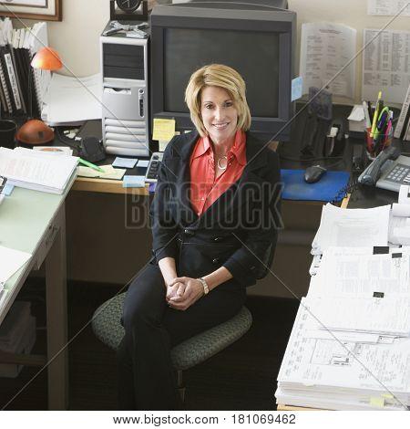 Businesswomen sitting in front of computer