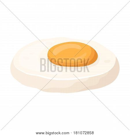 Fried eggs with yolk.Burgers and ingredients single icon in cartoon style vector symbol stock web illustration.