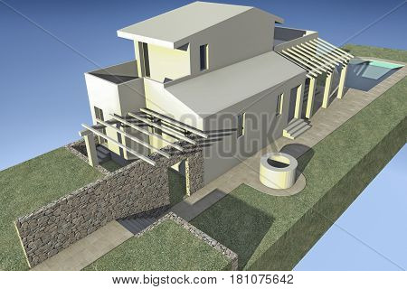 Preview of a rendering of a villa