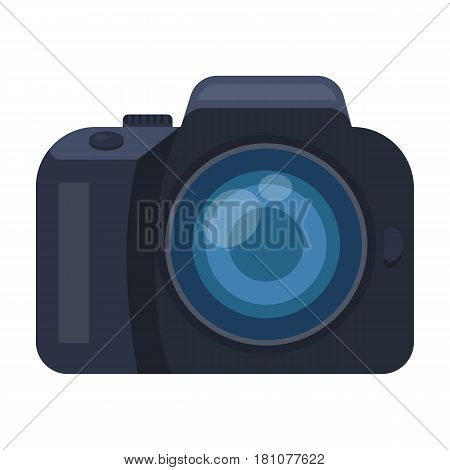 Camera detective. Camera, for shooting the scene, and to commit murder.Detective single icon in cartoon style vector symbol stock web illustration.