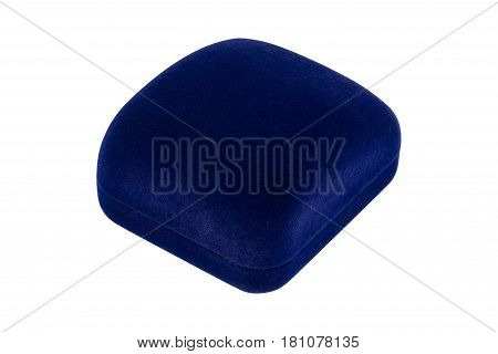 Blue jewelry box to putting ring earring or others value stuff into it, an image isolated on white