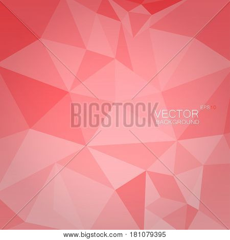 Abstract light red color polygonal geometric background