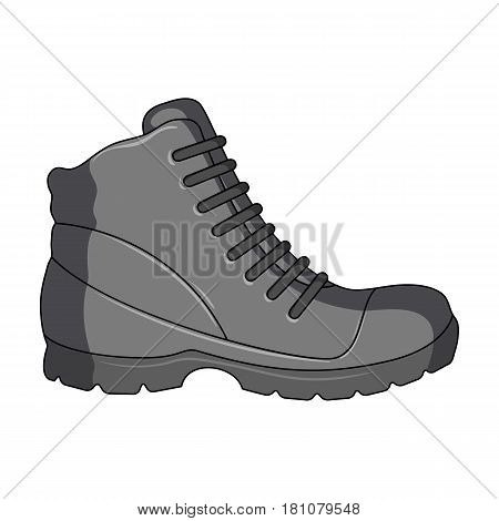 Grey men shoes oxfords. Casual shoes for autumn and spring .Different shoes single icon in cartoon style vector symbol stock web illustration.