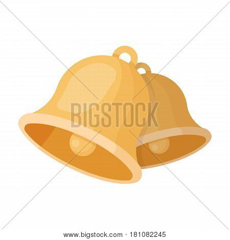 Church bells. Easter single icon in cartoon style vector symbol stock web illustration.