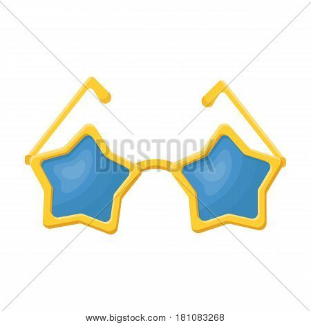 Glasses with stars.Fans single icon in cartoon  vector symbol stock illustration.